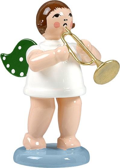 Engel mit Jazztrompete, ohne Krone