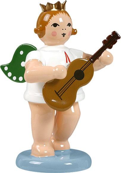 Engel mit Gitarre, mit Krone