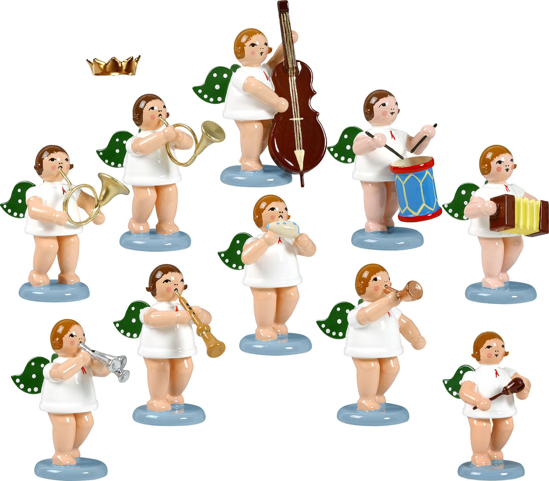 Engelmusikanten 10-teilig, Variante 4 - mit Krone