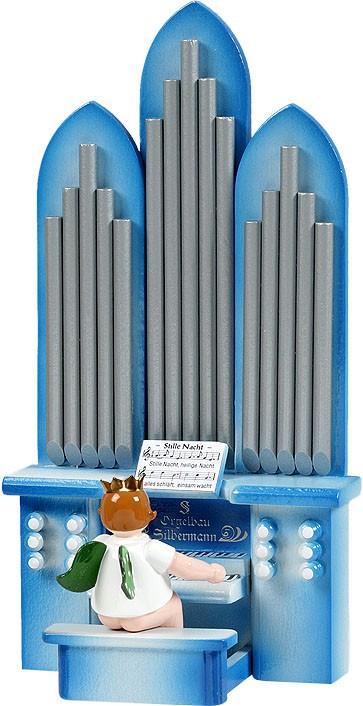 Orgel mit Engel, mit Spielwerk, mit Krone