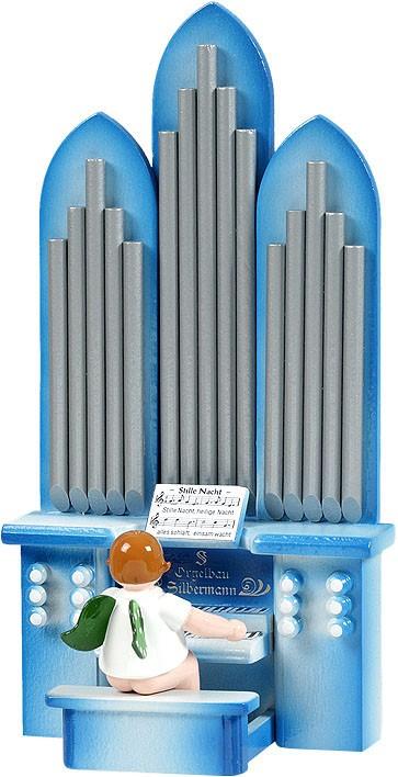 Orgel mit Engel, mit Spielwerk, ohne Krone