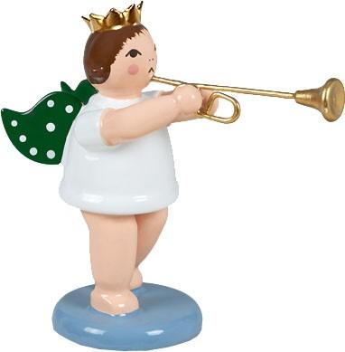 Engel mit Aidatrompete, mit Krone