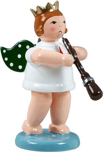 Engel mit Oboe, mit Krone