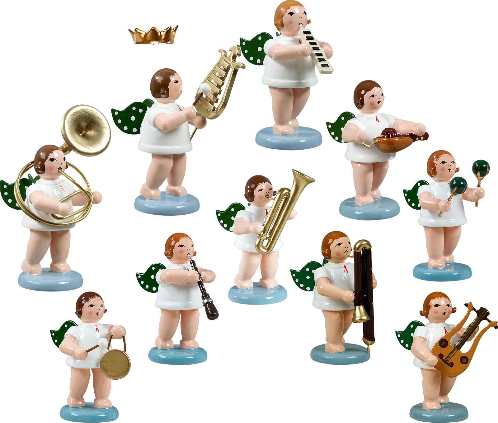 Engelmusikanten 10-teilig, Variante 7 - mit Krone