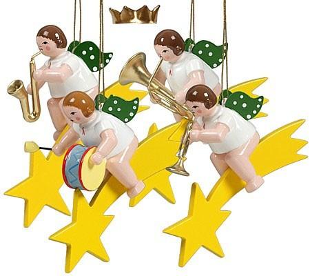 Baumbehang Engel auf Sternschnuppe - Variante 2, mit Krone