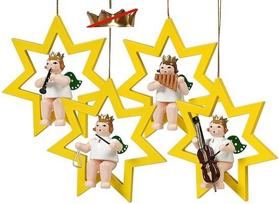 Baumbehang Engel im Stern - Variante 1, ohne Krone