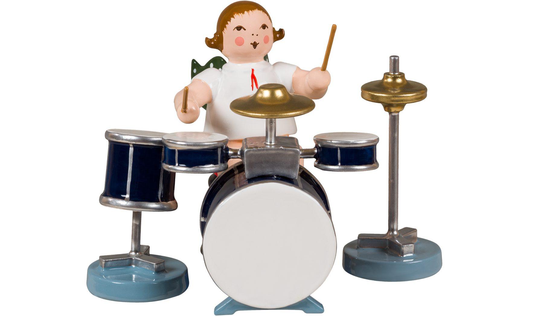 Engel mit Schlagzeug, ohne Krone