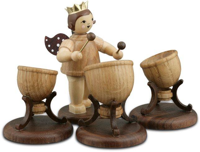 Engel mit 3Pauken Natur mit-Krone