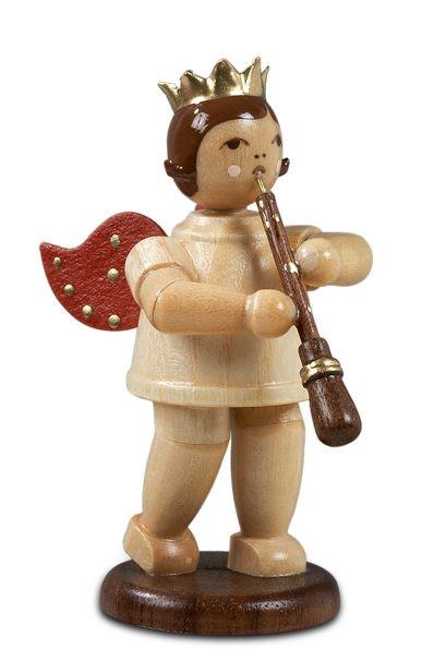 Engel mit Oboe, Natur mit-Krone