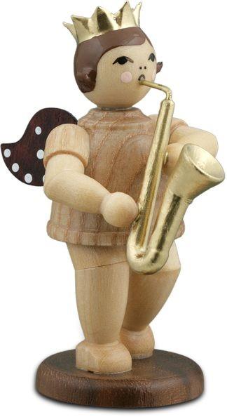 Engel mit Saxophon Natur mit-Krone