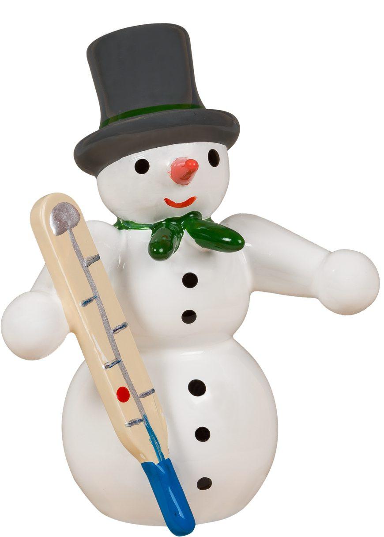 Schneemann - mit Thermometer