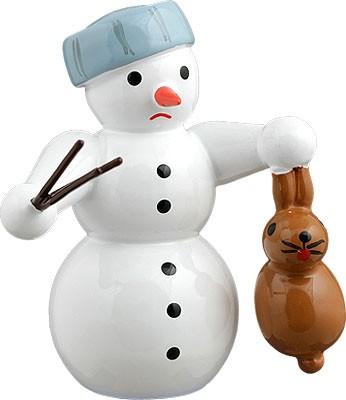 Schneemann - mit Hase