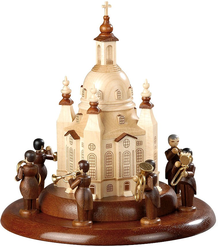 Motivplattform für elektr. Spieldosen - Dresdner Frauenkirche - Blechbläserensemble L. Güttler