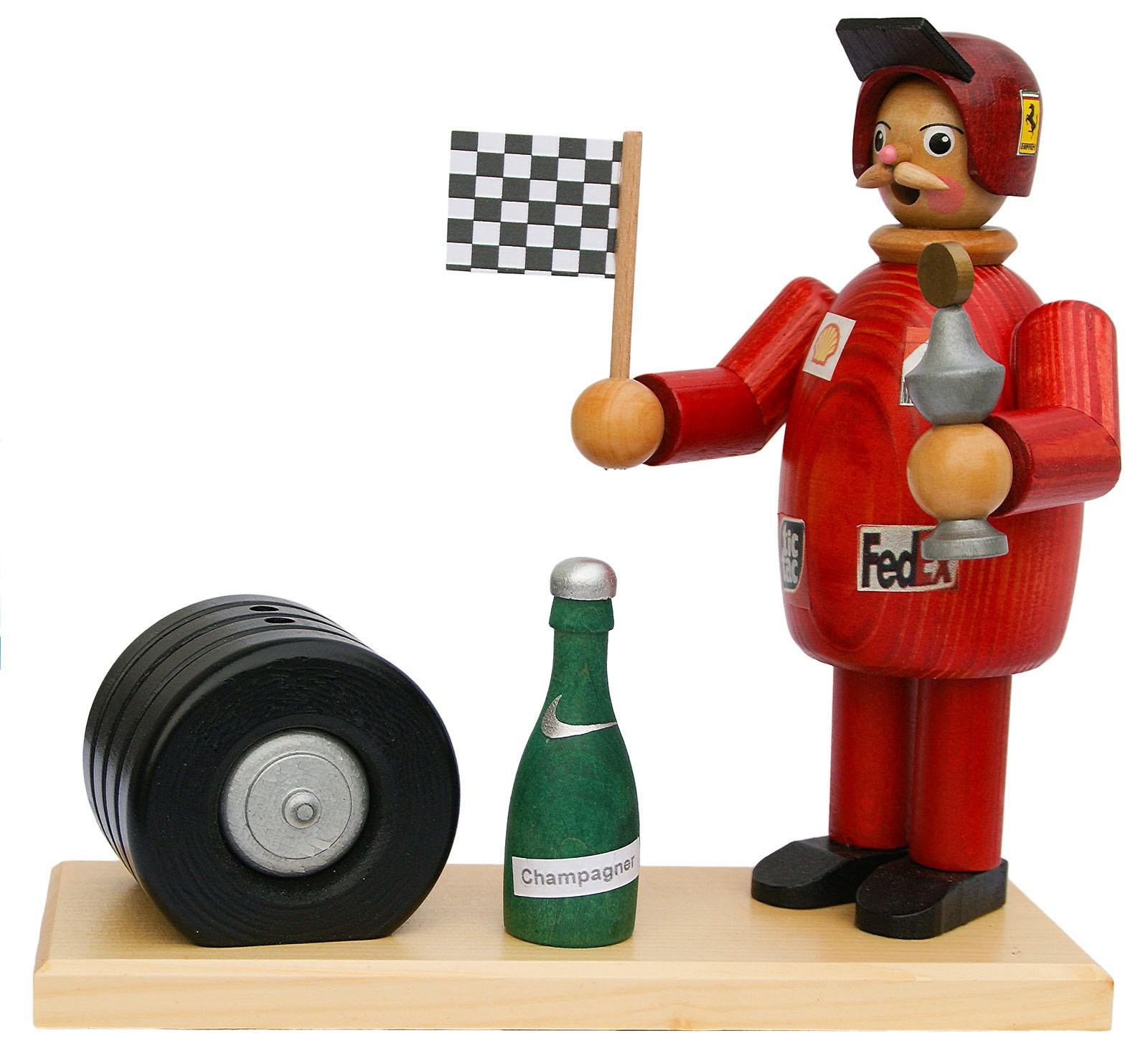 Räuchermann Rennfahrer (rot)