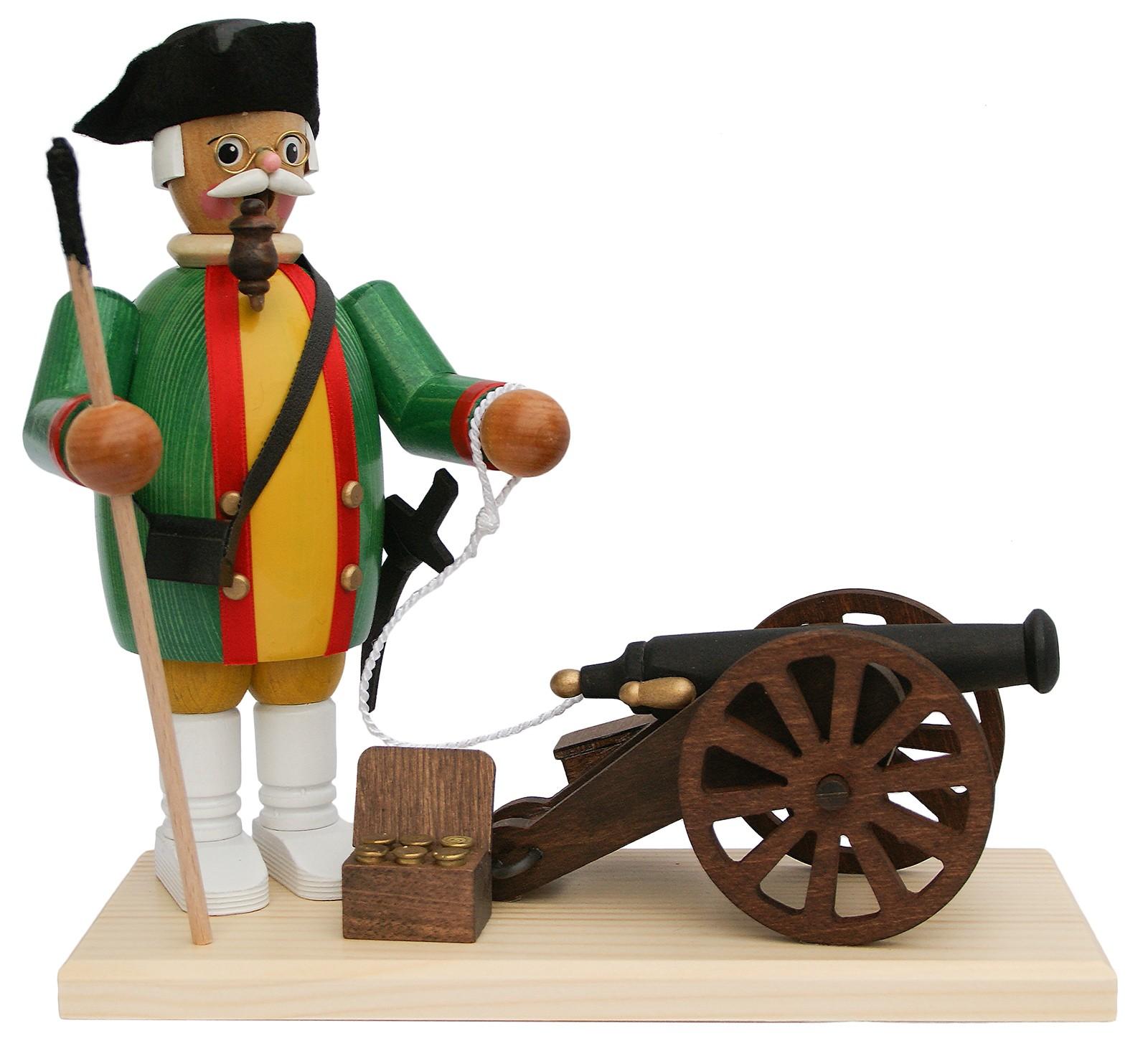 Räuchermann Kanonier mit Kanone