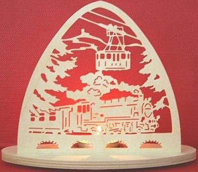 Teelichthalter Eisenbahn - oval