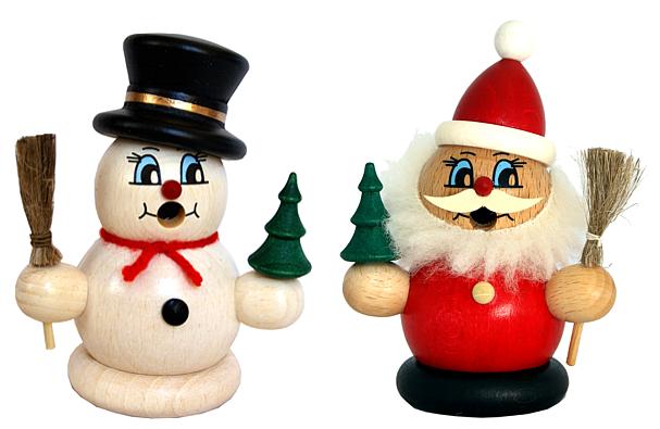 Moppelmänner -Weihnachtsmann oder Schneemann-