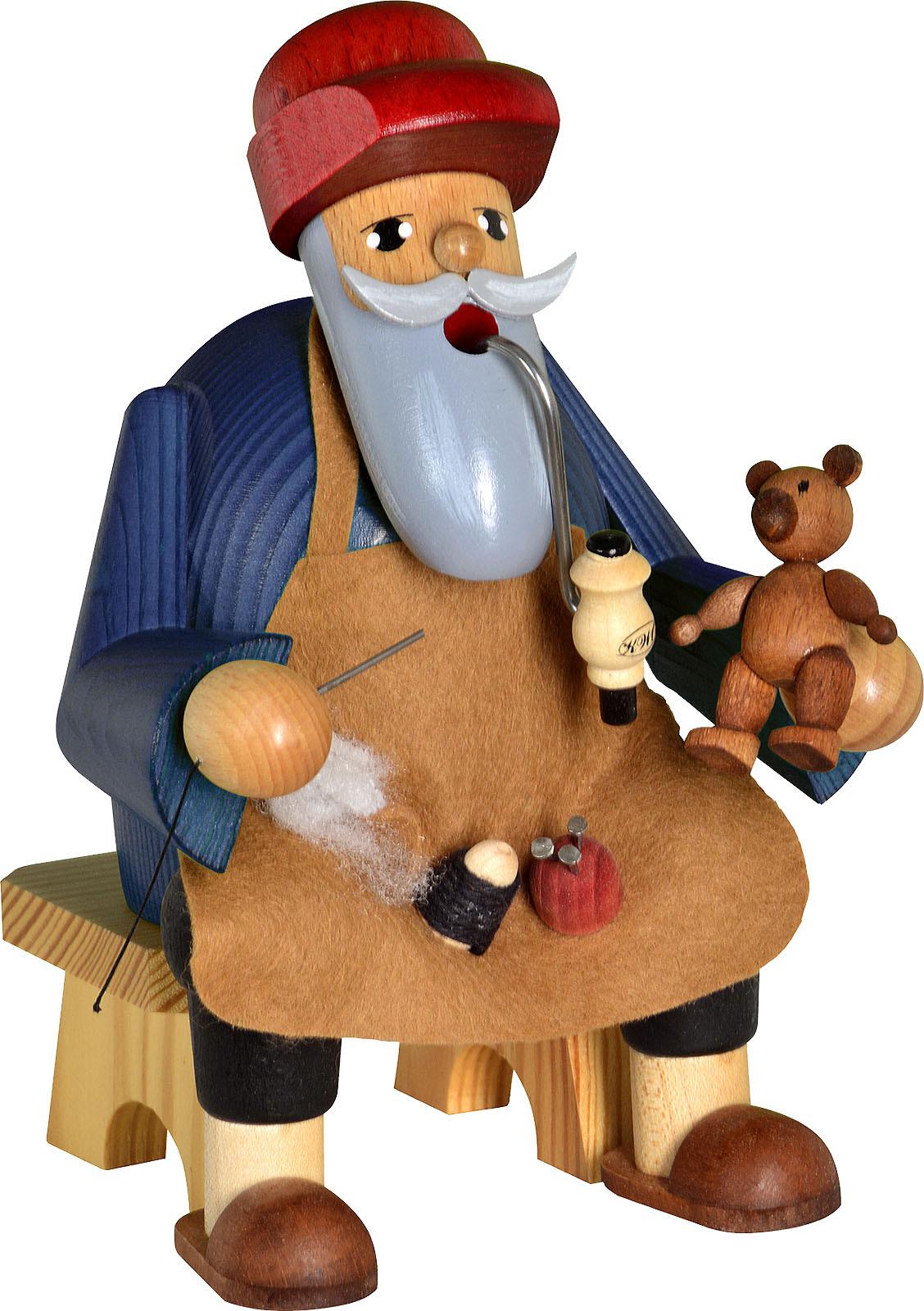 Räuchermann Teddymacher, sitzend - Die Bärtigen