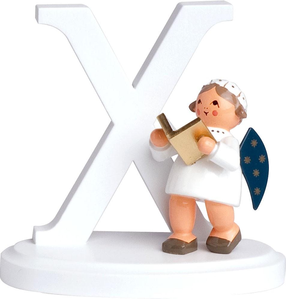 Engel mit Buchstabe -X-
