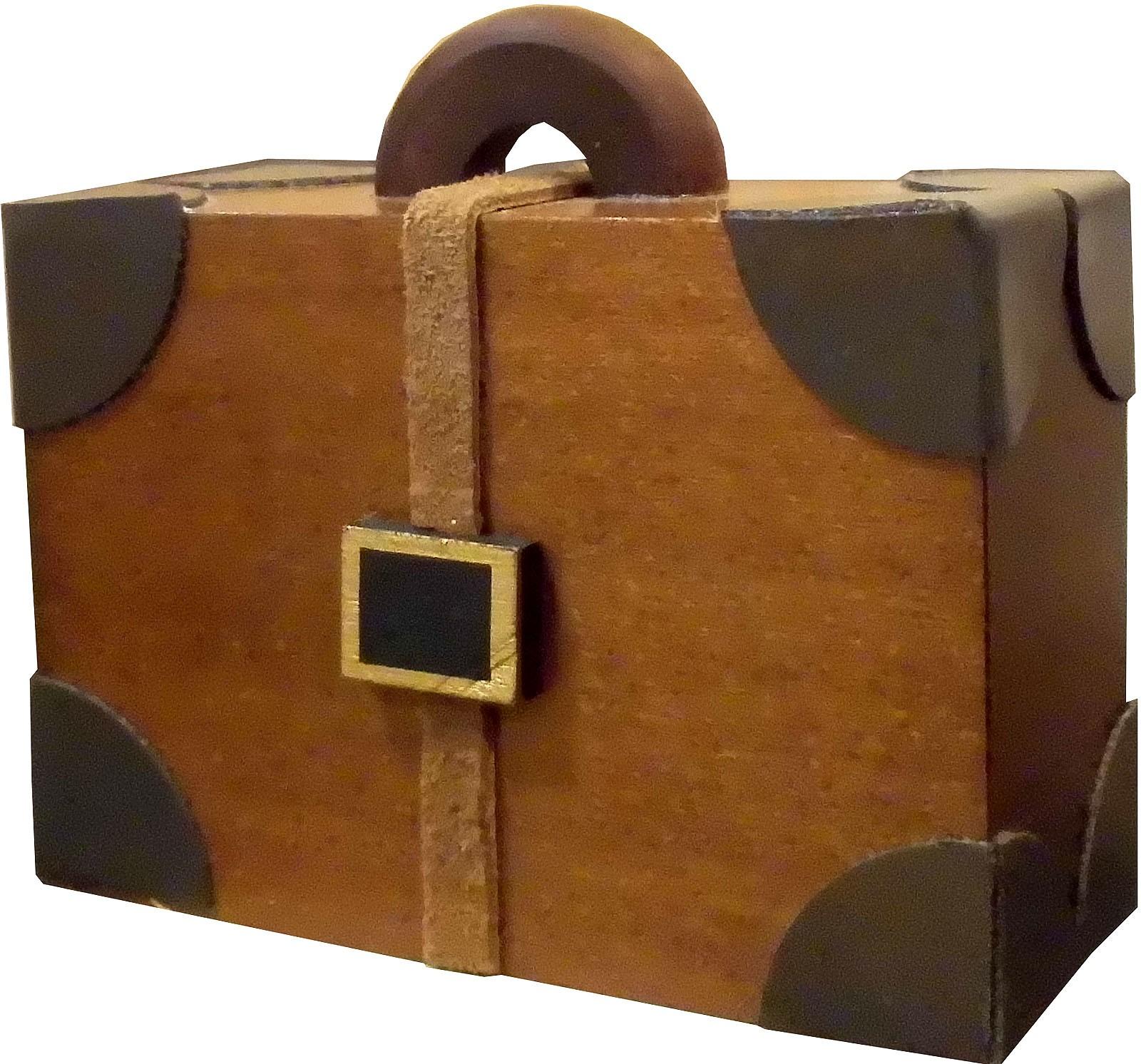 Komponenten für Kantenhockereisenbahn - Koffer, groß
