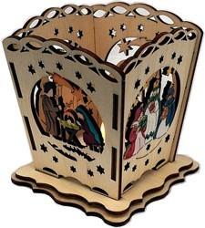 Tischlaterne für Teelicht - Christi Geburt