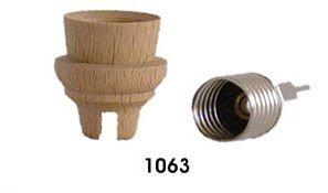 Lichtertülle mit Fassung E10, Hoehe 27mm, Dms 25 mm, mit Nut 4mm