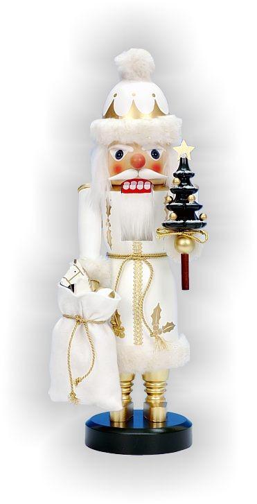Nußknacker Weihnachtsmann weiss