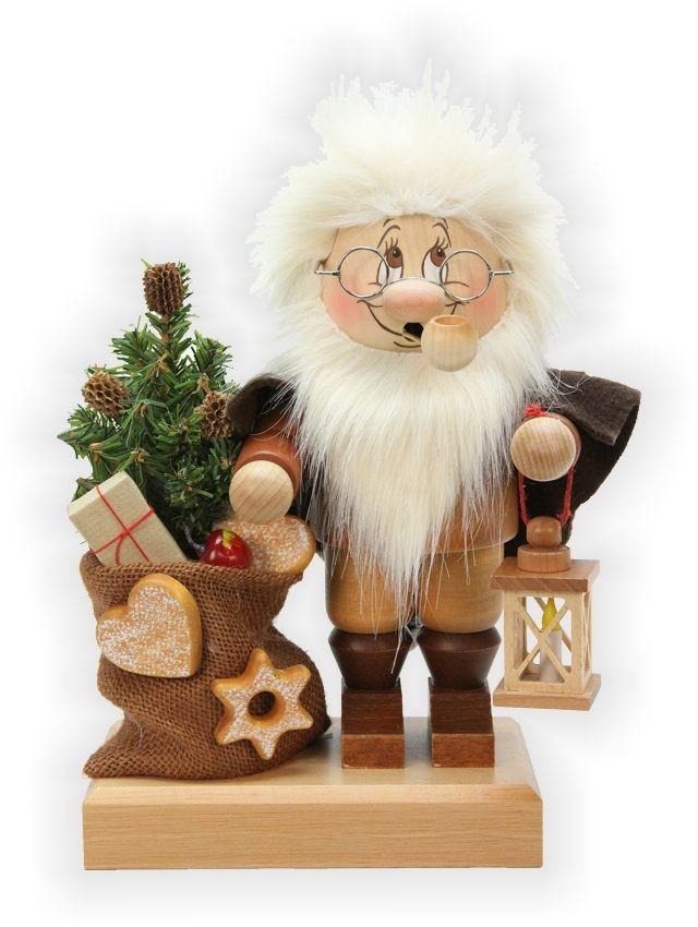 Räuchermann Wichtel Weihnachtsmann mit Sack