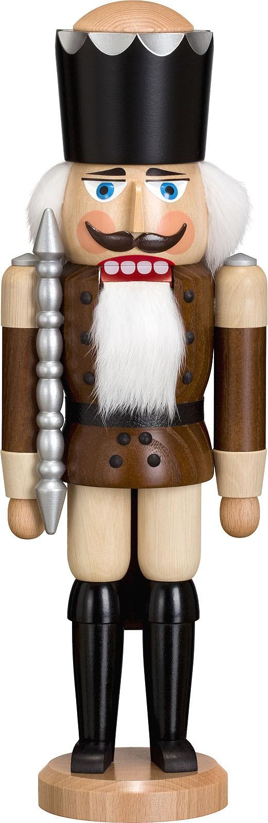 Nussknacker König, Esche lasiert, braun, 38 cm
