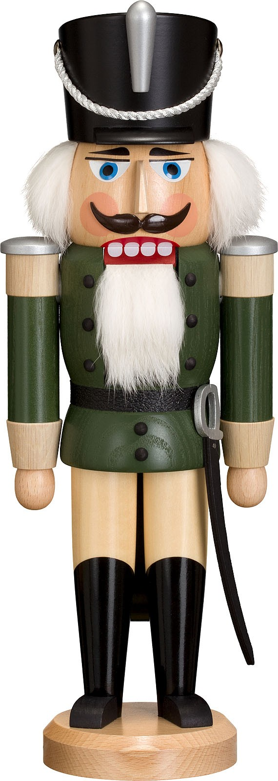 Nussknacker Husar, Esche lasiert, grün, 37 cm