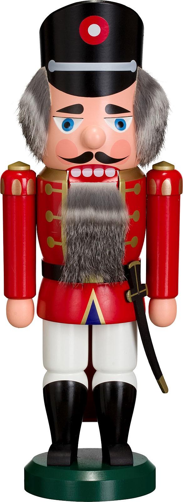 Nussknacker Polizist, rot, 35 cm