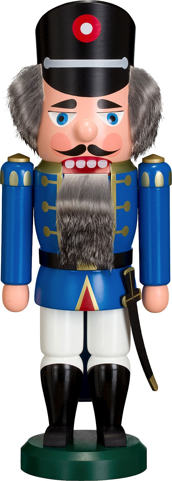 Nussknacker Polizist, blau, 35 cm