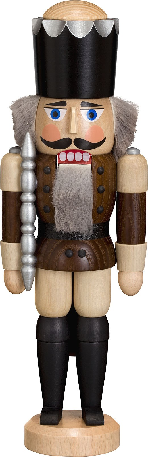 Nussknacker König, Esche lasiert, braun, 29 cm