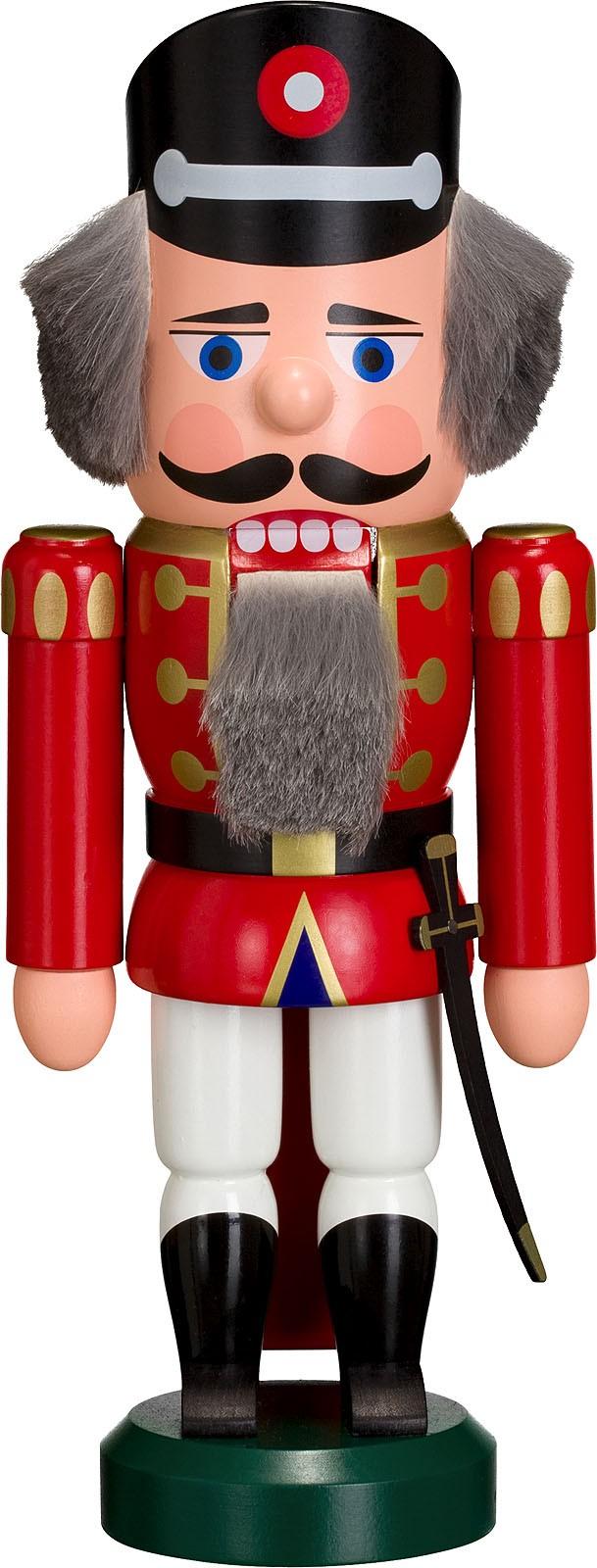 Nussknacker Polizist, rot, 25 cm
