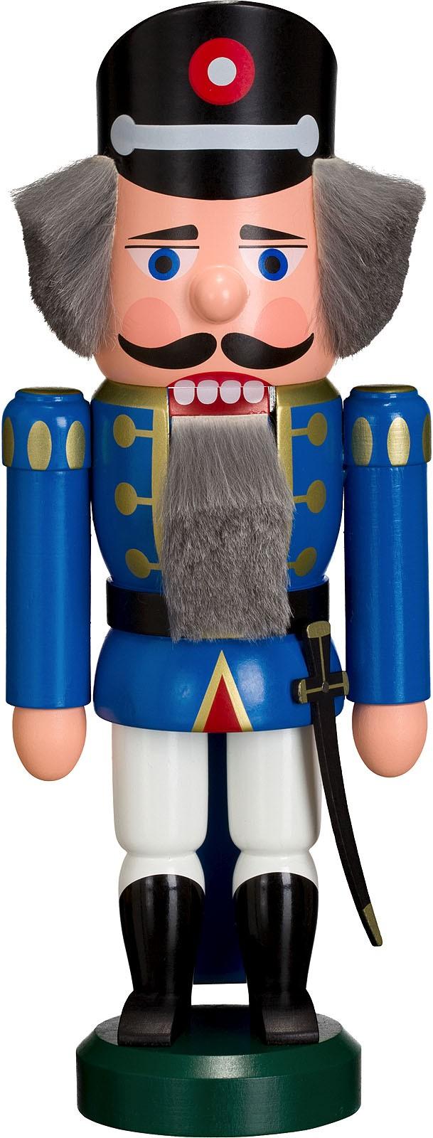 Nussknacker Polizist, blau, 25 cm