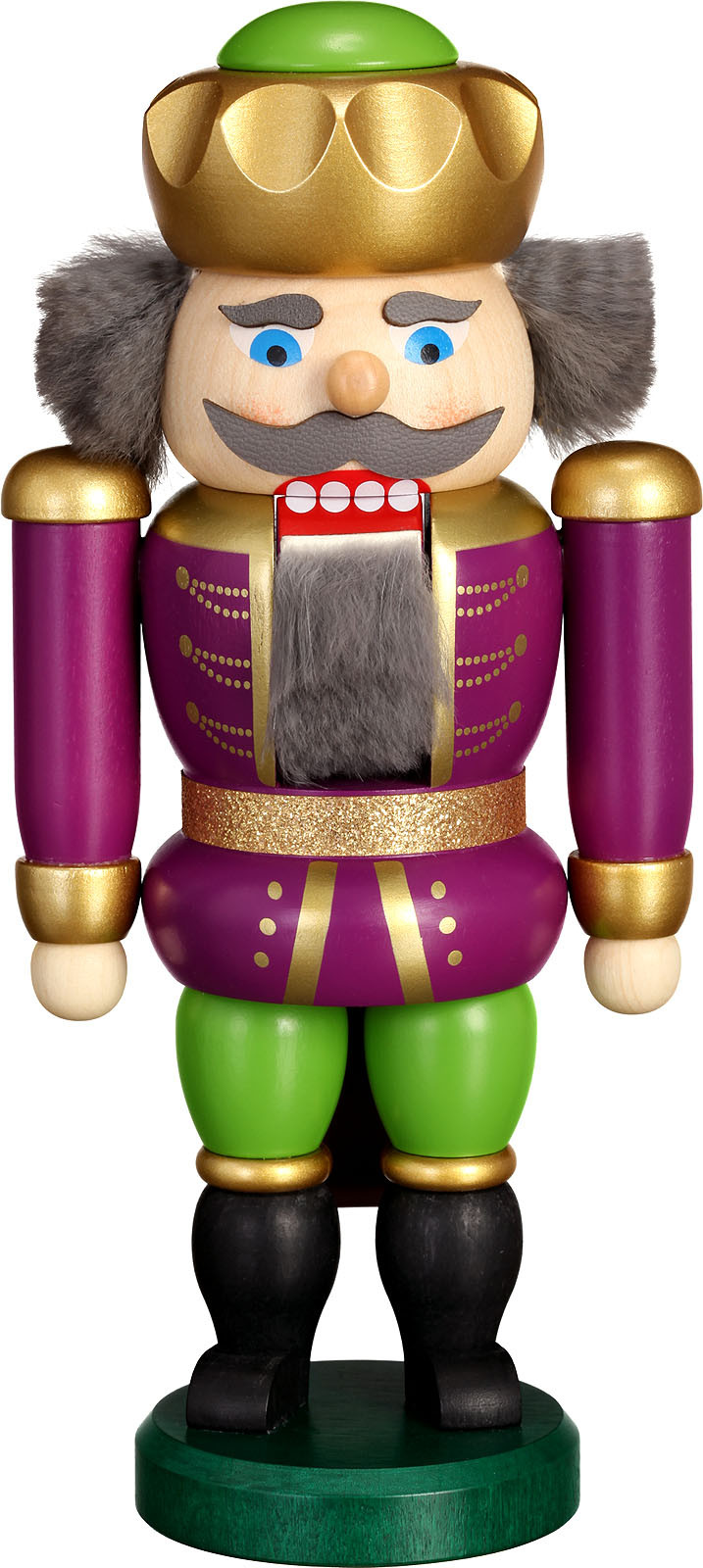Nussknacker König, purpur-grün