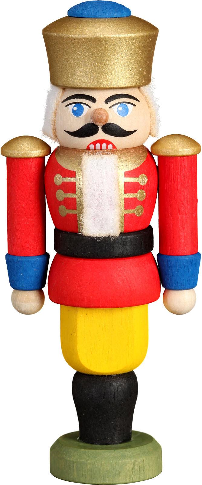 Mini-Nussknacker König, rot