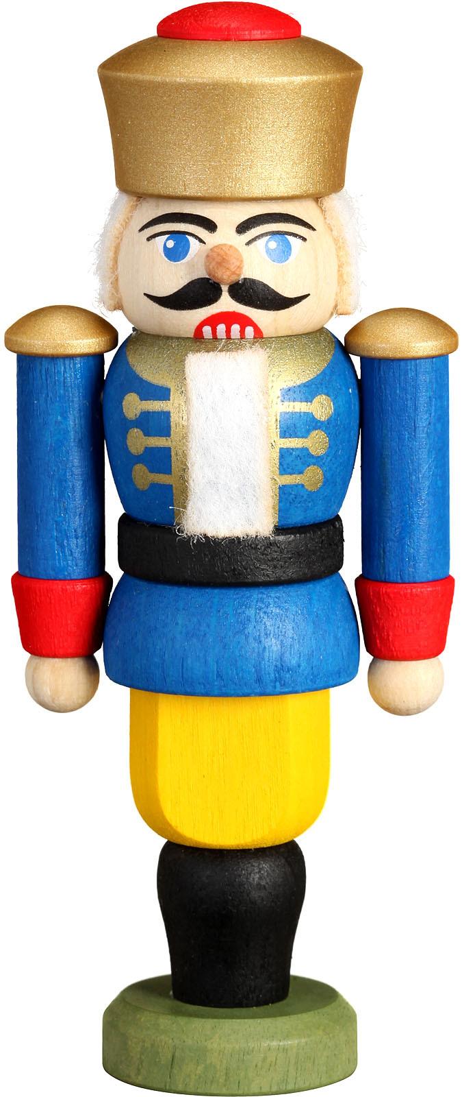 Mini-Nussknacker König, blau