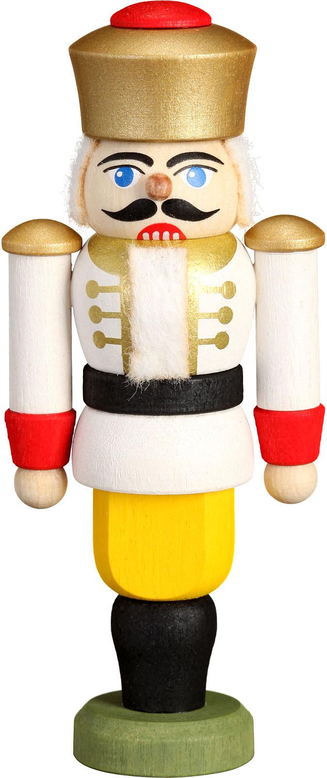 Mini-Nussknacker König, weiß