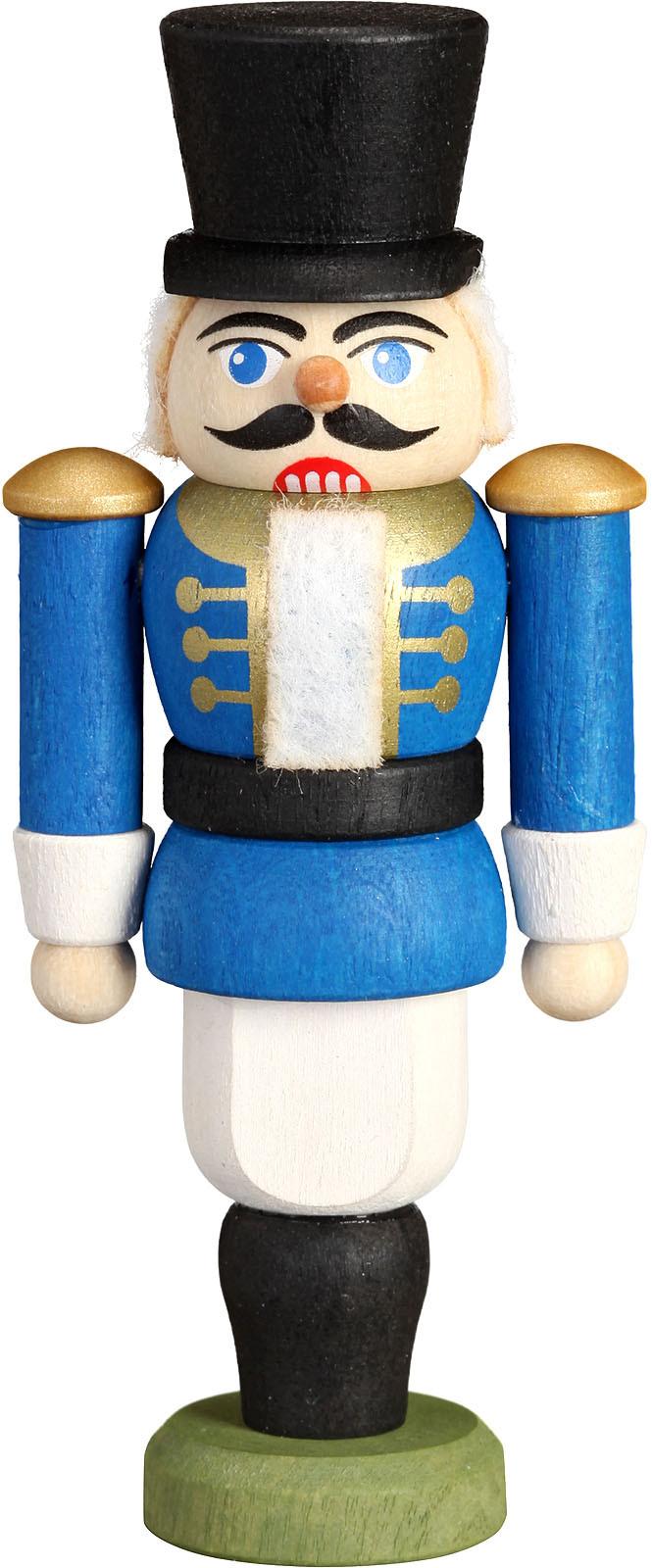 Mini-Nussknacker Husar, blau