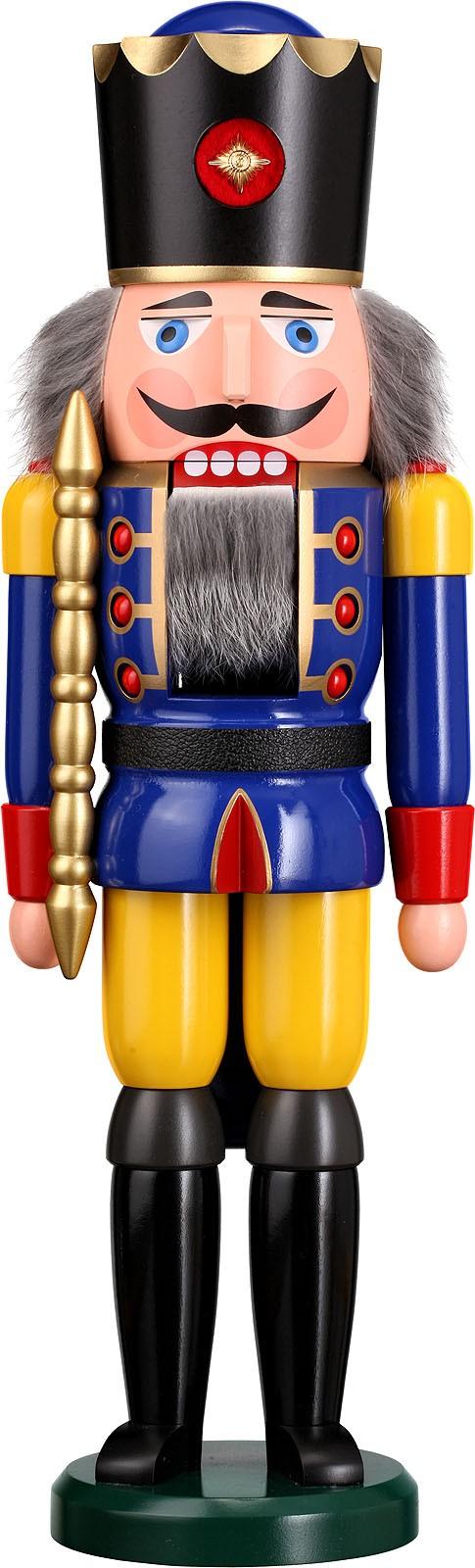 Nussknacker König, blau, 50 cm