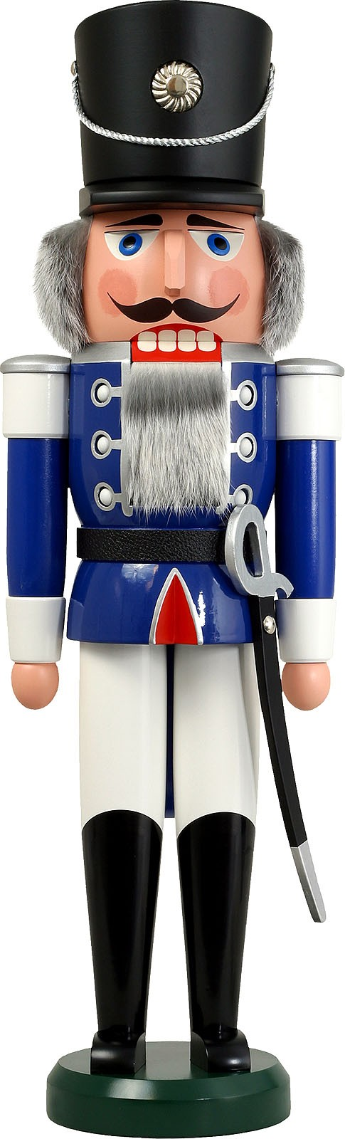 Nussknacker Husar, blau, 60 cm