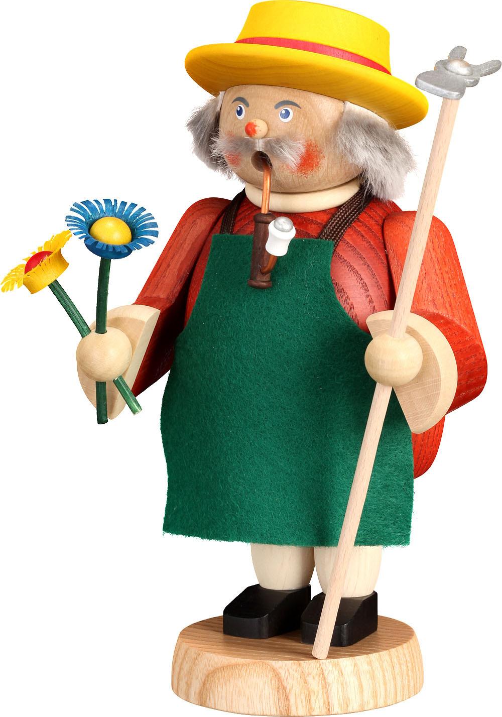 Räucherfigur Gärtner  - gemütliche Typen