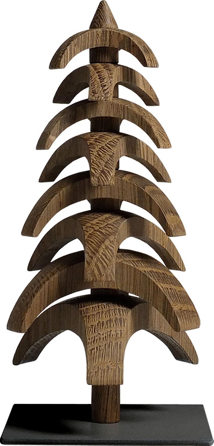 Drehbaum Twist, Eiche geräuchert - 15 cm