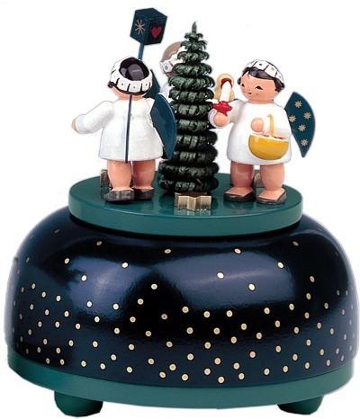 kleine Spieldose Engel mit Geschenk