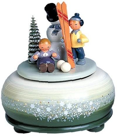 kleine Spieldose Winterfreuden und Ski