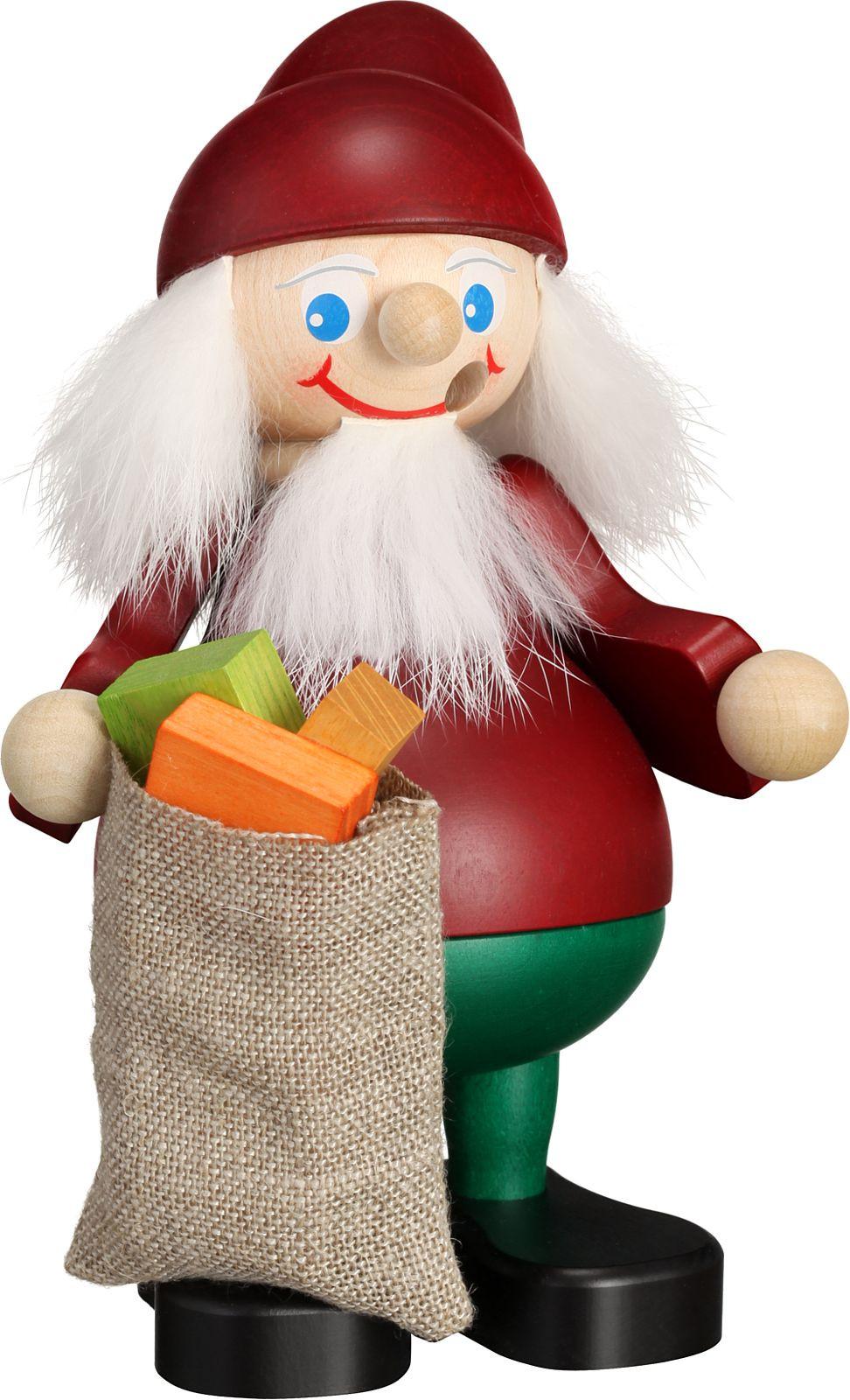 Räuchermann Heinzelmännchen - Weihnachtsheinzel mit Sack