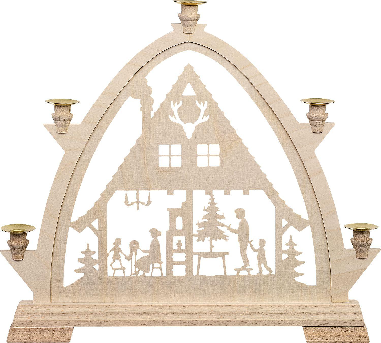 Kleine gotische Bögen für Wachskerzen Waldhaus