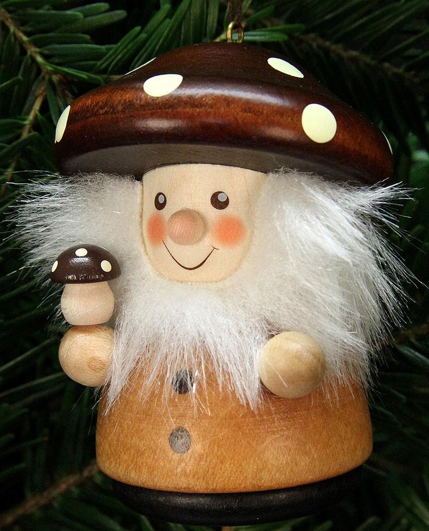 Baumbehang Weihnachtsmann Pilzmännle, natur