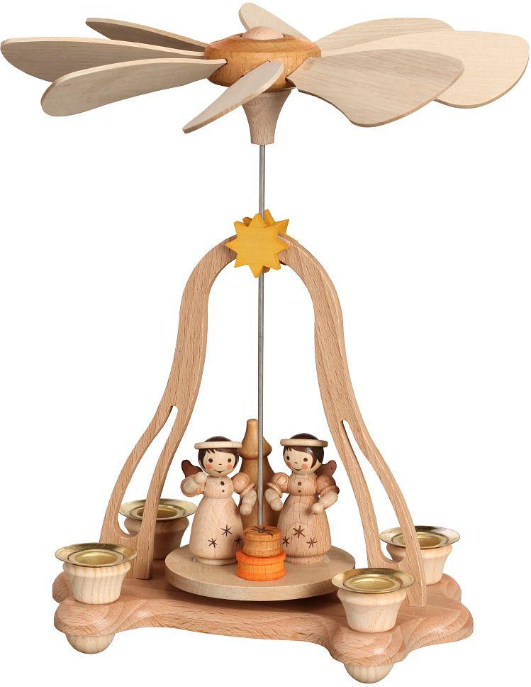 Tischpyramide mit Engel, für 4 Kerzen